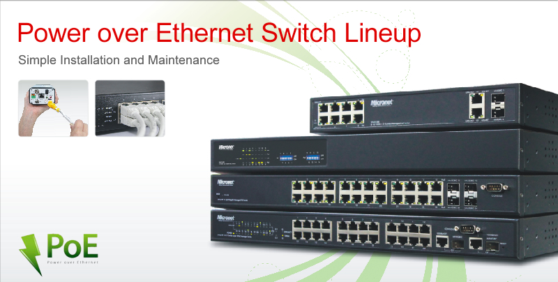 Power over Ethernet Switch Lineup