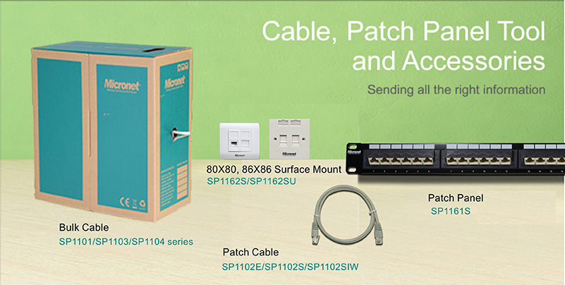 Cable, Patch Panel Tool and Accessories